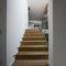 escalier droit / structure en bois / marche en bois / avec contremarche