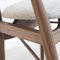 chaise design scandinave / tapissée / avec accoudoirs / en tissu