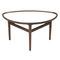 table basse design scandinave / en noyer / en teck / ovale