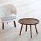 table d'appoint design scandinave / en bois / ronde / par Finn Juhl