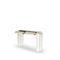 console Art Déco / en verre / rectangulaire / avec tiroir