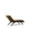 chaise longue classique / en tissu / en bois laqué