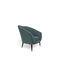 fauteuil classique / en velours / en bois laqué / avec repose-pieds