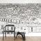 papier peint contemporainPapier peint Vue de Paris Opéra Grand Palais PanoramiqueOhmywall