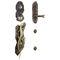 poignée de tirage de porte / en bronze / contemporaine / avec serrure intégrée