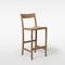 chaise de bar contemporaine / tapissée / avec repose-pieds / en tissu