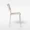 chaise contemporaine / empilable / imperméable / en résille