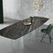 table contemporaine / en bronze / en marbre / en céramique
