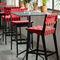 chaise de bar contemporaine / tapissée / en coton / en Sunbrella®RISOMKnoll