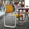 chaise contemporaine / tapissée / avec accoudoirs / empilableNEWSONKnoll