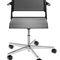 chaise de conférence tapissée / avec accoudoirs / à roulettes / pivotante