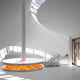 cheminée électrique / design original / à foyer ouvert / suspendue