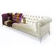 canapé de style chesterfield / en tissu / 3 places / multicolore