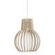 suspension / classique / en bois / à LED