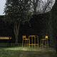 tabouret de bar contemporain / en acier peint / de jardin / jaune