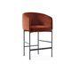 chaise de bar contemporaine / en tissu / en cuir / en métal