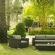 fauteuil contemporain / en rotin / de jardin