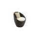 chaise de jardin contemporaine / pivotante / en rotin