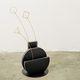 vase contemporain / en acier peint