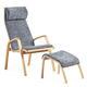 fauteuil contemporain / en cuir / en hêtre / contreplaqué