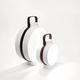 lampe baladeuse / contemporaine / en porcelaine / en cuir