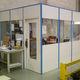 cloison amovible / modulaire / en bois / vitrée