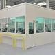 cloison séparatrice amovible / modulaire / en verre / en acier