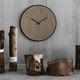 horloge contemporaine / analogique / murale / en chêne