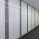 cabine sanitaire pour toilettes pour sanitaire public / stratifiée / en verre / MDF