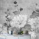 papier peint contemporain / en fibre naturelle / en fibre de cellulose / à motif floral