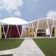 membrane architecturale en tissu de verre enduit PVC / en PVC / pour espace public / pour structure tendue