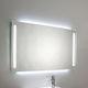 miroir de salle de bain mural / lumineux (LED) / antibuée / contemporain
