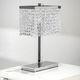 lampe de table / en chrome / en cristal / contemporaine
