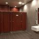 cabine sanitaire pour toilettes pour sanitaire public / stratifiée / en inox