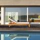 bain de soleil contemporain / en bois / en tissu déperlant / pour centre de bien-être