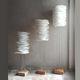 lampe sur pied / design original / en métal / en papier