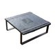 table basse rustique / en frêne / avec piètement en acier / carrée