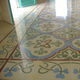 carreau de ciment d'intérieur / au sol / en grains de marbre / motif Victorien