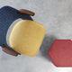 tissu d'ameublement / à motif géométrique / en coton / en laine