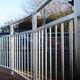 clôture pour espace public / à barreaudage / en métal / de haute sécurité