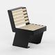 chaise contemporaine / en acier / avec piètement en acier / pour espace public
