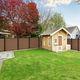 clôture de jardin / à lames / en aluminium / en bois composite