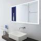 miroir de salle de bain mural / avec étagère / contemporain / rectangulaire