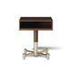 table de chevet contemporaine / en bois / avec piètement en métal / rectangulaire