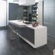 cuisine en Solid Surface / contemporaine / agglomérée / en aluminium
