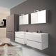 meuble vasque double / suspendu / stratifié / contemporain