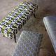 tissu d'ameublement / à motif géométrique / en coton / en viscose