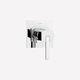 mitigeur de douche / à encastrer / en métal chromé / 1 trou