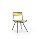 chaise contemporaine / sur mesure / en acier / en polyester