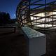 banc public contemporain / en béton armé / en pierre reconstituée / sans dossier